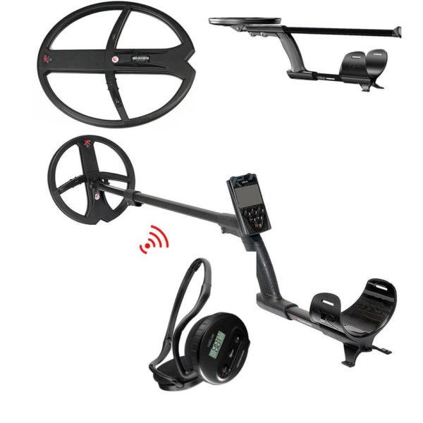 Металотърсач XP DEUS V5 MEGA с бобини 22.5см + BIG 34х28см + безжични слушалки - 2