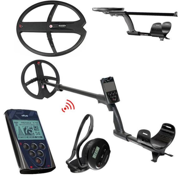 Металотърсач XP DEUS V5 MEGA с бобини 22.5см + BIG 34х28см + безжични слушалки + дистанционно